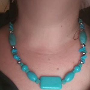 Sterling Silver Turquoise Necklace              A7